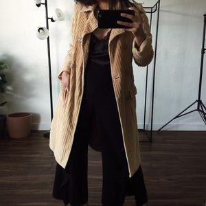Jackets & Blazers - Corduroy Tan Coat